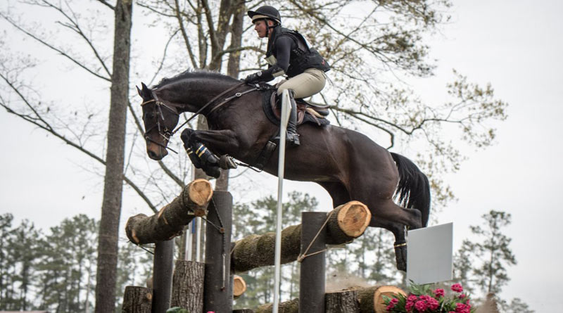 Jaeda and Booli Selmayr on the cross-country of the Advanced division at the 2016 Carolina International. ©