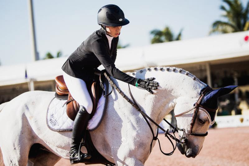 Hannah Selleck and Belora de Walyro at the Winter Equestrian Festival in Wellington, Florida.