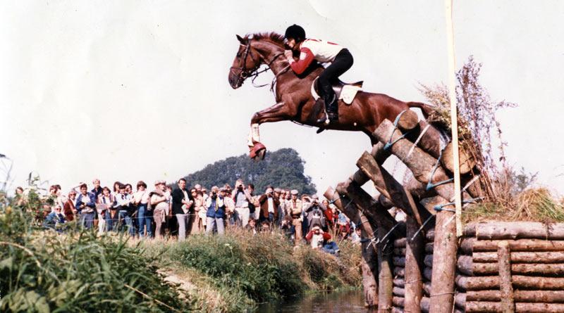 Jan Lipczyński and Elektron at the European Championships at Horsens, Denmark, in 1981.