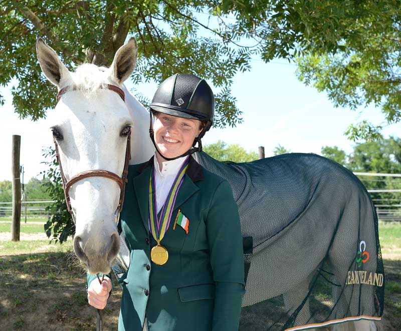 Team Gold medal and individual silver medal winners Kate Derwin and Cul Ban Mistress (ISH).