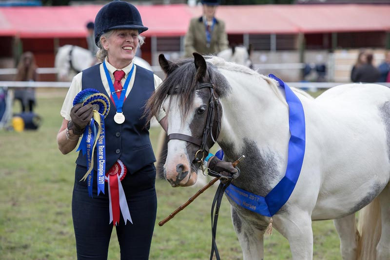 Melanie Cole and Mereseborough's Chevez, who won the under-four in-hand section, and reserve champion overall.