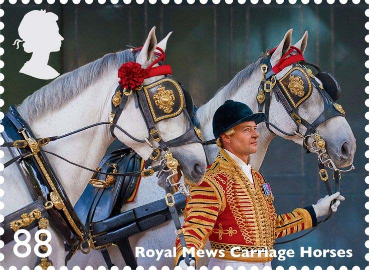 In 2014 Daniel, at right, featured on a Royal Mail postage stamp in a series featuring working horses, in what was also the Year of the Horse.