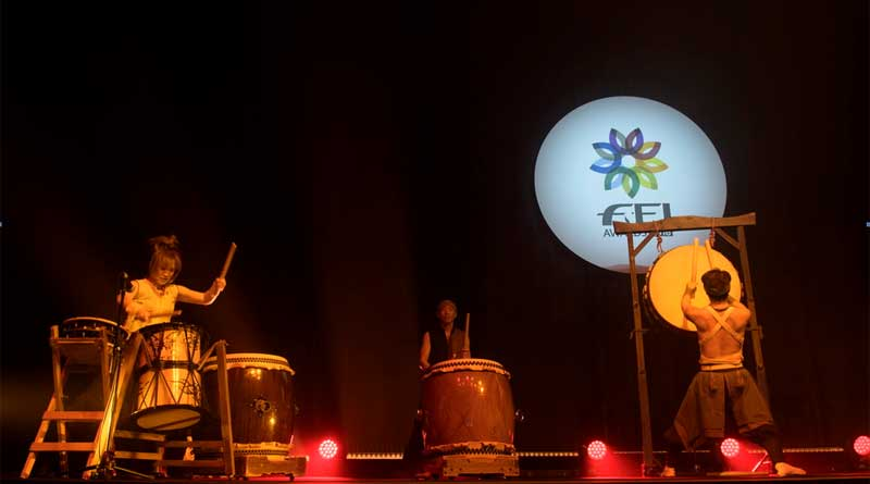 Taiko traditional Japanese drummers perform at the FEI Awards during last year's ceremony in Tokyo.