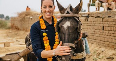 Charlotte Dujardin during her trip to India in 2015.