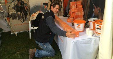Eventer William Fox-Pitt taking Brooke's brick challenge at Osberton Horse Trials.
