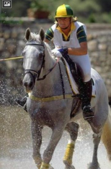 Gillian Rolton and Peppermint Grove at the 1992 Olympics in Barcelona.