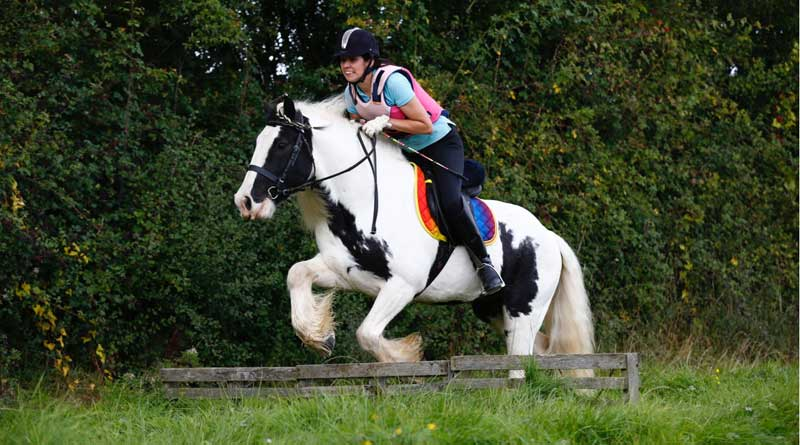 Fiona Bloomfield has returned to riding after breaking her back, and it was Mario who gave her the confidence to do so.