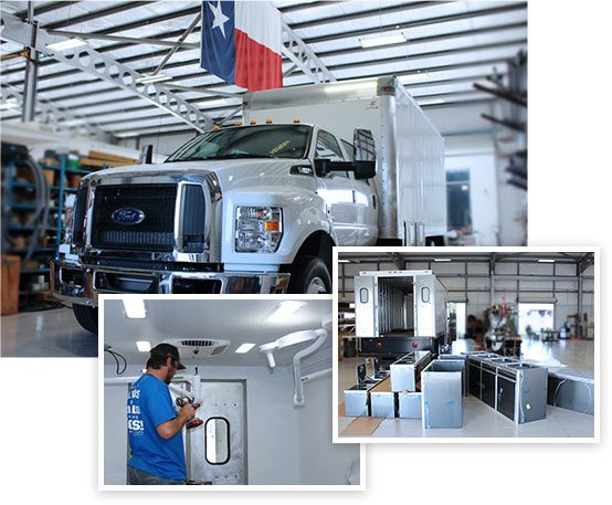 Texas A&M Veterinary Emergency Team's new medical unit.