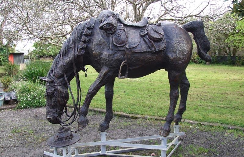 """Matt Gauldie's """"big, awesome, bronze War Horse""""."""
