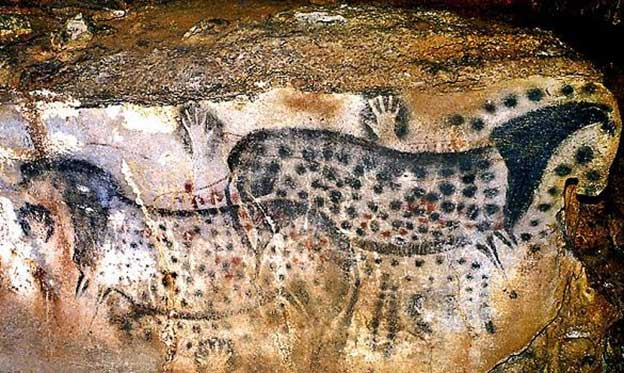French Cave Paintings of Leopard Pattern Horses