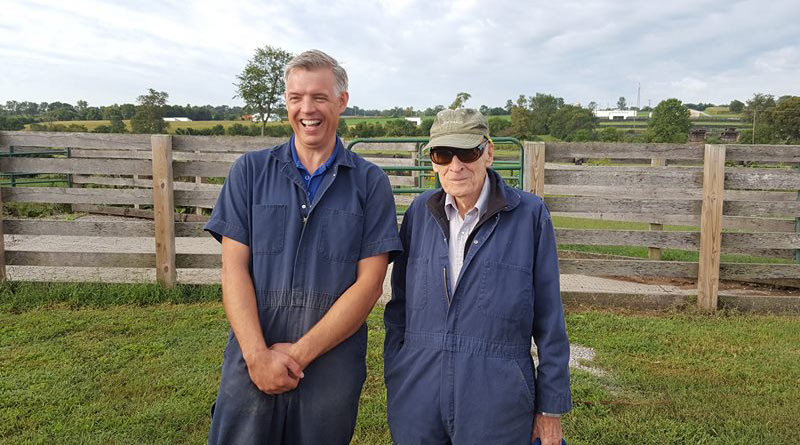 Parasitology researchers Dr Martin Nielsen with Dr Gene Lyons.