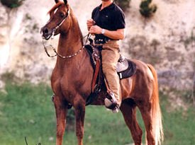 Patrick Swayze and his favourite stallion, Tammen.
