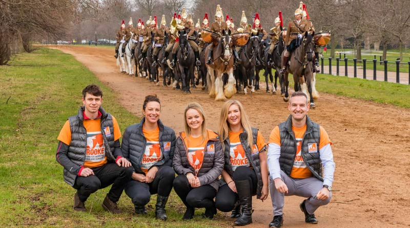 British equestrians Harry Meade, Gemma Tattersall, Charlotte Dujardin, Alice Oppenheimer, and Richard Waygood are lending their support to Brooke's My Hackathon. The Household Cavalry Mounted Regiment is preparing for the Major General's Inspection, and the Brooke team went along for the rehearsal.