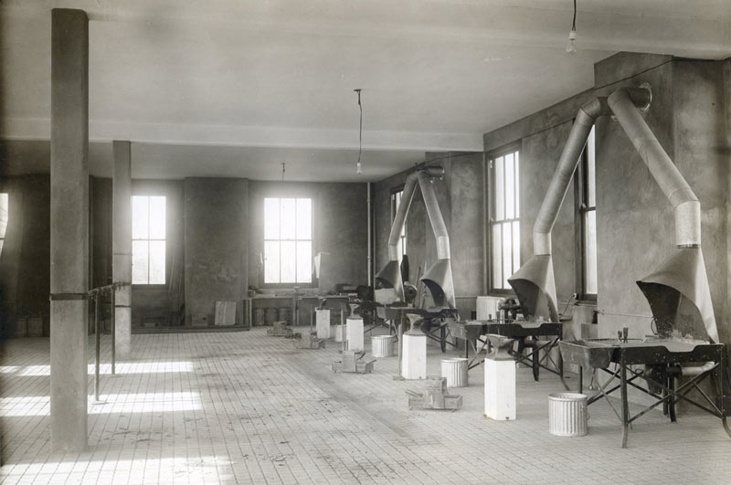Cornell's old farrier room in 1914.