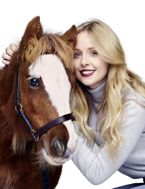 Diana Vickers with Emerald at the Blue Cross photoshoot.