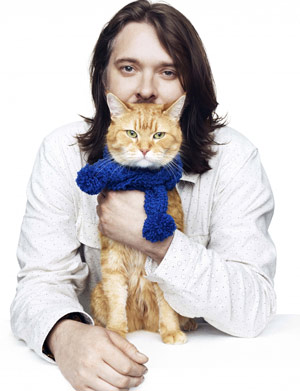 James Bowen and Bob The Street Cat.