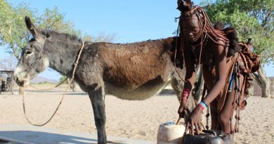 Kerirorere Muharukwa and Dendu at a water collection point. © The Donkey Sanctuary