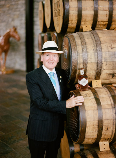 Dr Pearse Lyons at Alltech Lexington Brewing and Distilling Company's Town Branch Distillery