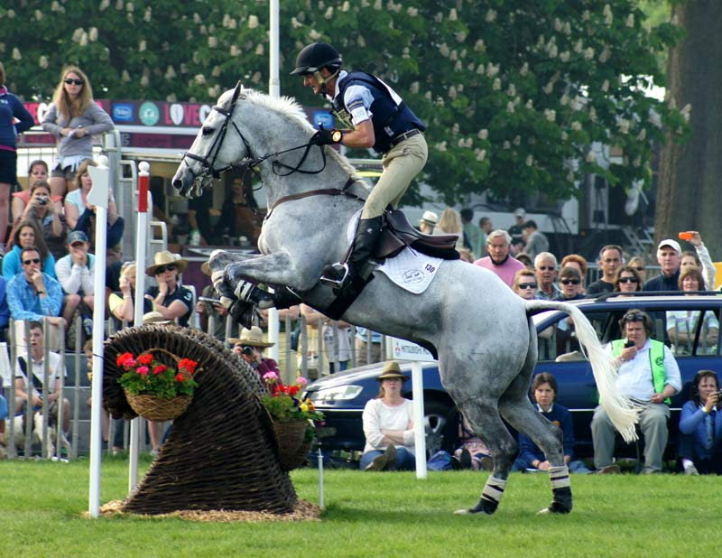 Land Vision and Mark Todd on their way to winning the Badminton Horse Trials in 2011.