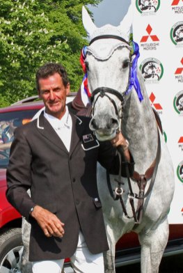 Mark Todd and Land Vision after winning Badminton in 2011.