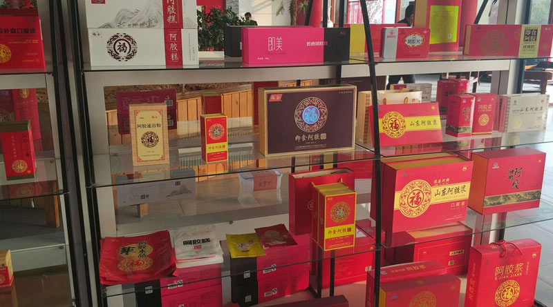 Ejiao for sale in China. Ejiao products are also widely available in Australia.
