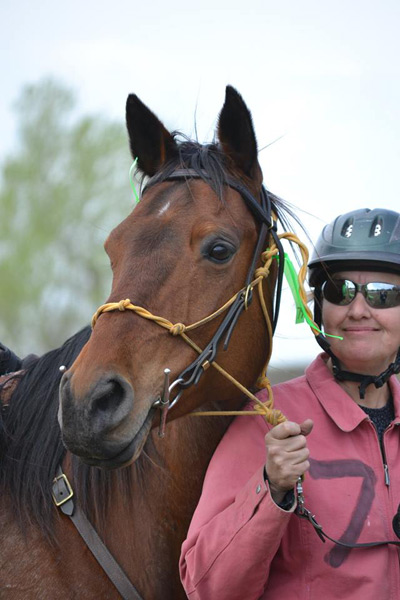 Tammy Vasa and her horse, Windy.
