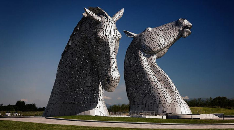 The Kelpies are the largest equine sculptures in the world.