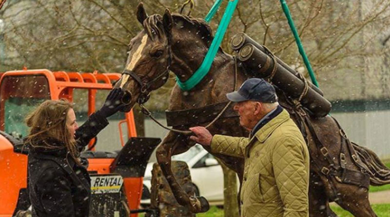 The larger-than-life statue of Sergeant Reckless is being unveiled at the Kentucky Horse Park later this month,