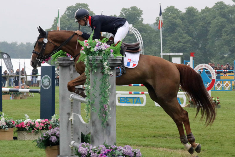 French rider Thibault Fournier was second in the under-25 CCI3* at Bramham, riding Siniani De Lathus.