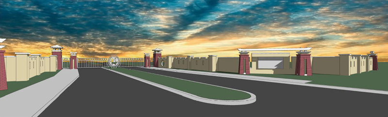 An architect's rendering of the new UF Equine Acupuncture Center.