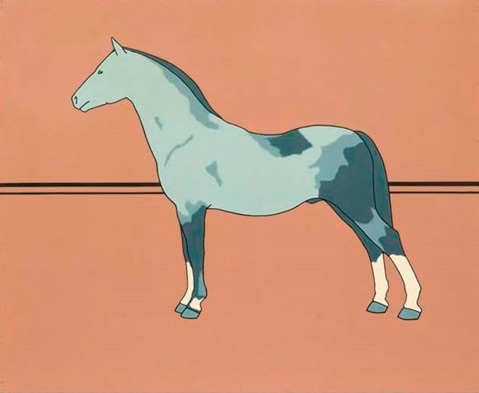 """Patrick Caulfield's 1964 """"Pony"""" is going up for auction next month. The oil on board work is 122 x 152.5cm."""