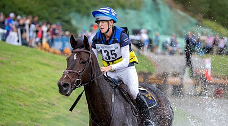 Anna Freskgård and Box Qutie on the cross-country at the World Equestrian Games in Tryon, North Carolina.