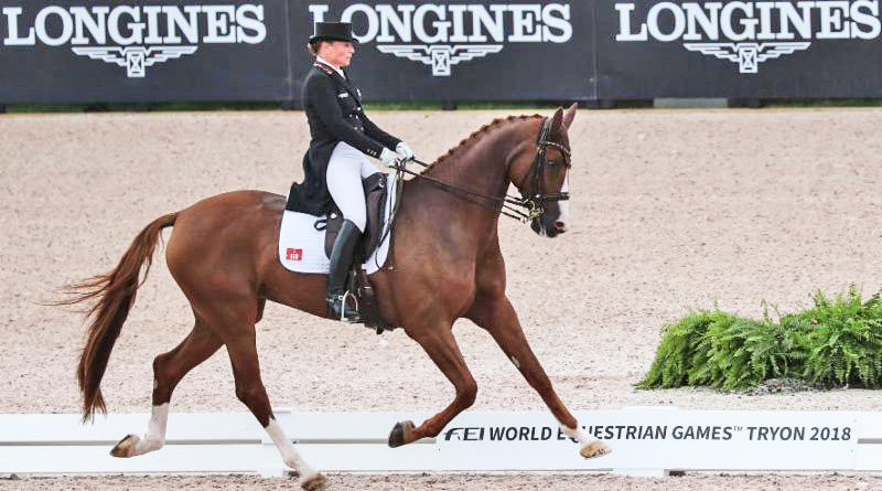 Isabell Werth and Bella Rose won the WEG Grand Prix special on Friday.
