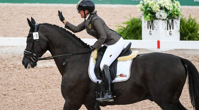 Para dressage rider Manon Clayes of Belgium, riding San Dior 2.