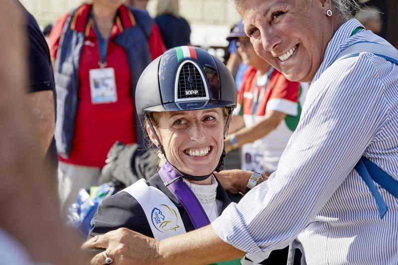 Grade Ia individual gold medalist Sara Morganti, who rode Royal Delight to a score of74.740%. © FEI/Liz Gregg