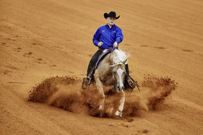 Cade McCutcheon and Custom Made Gun were part of the USA's gold medal winning reining team.