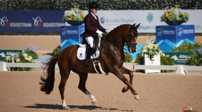 Sanne Voets claimed Freestyle Grade IV para dressage gold on Demantur N.O.P.
