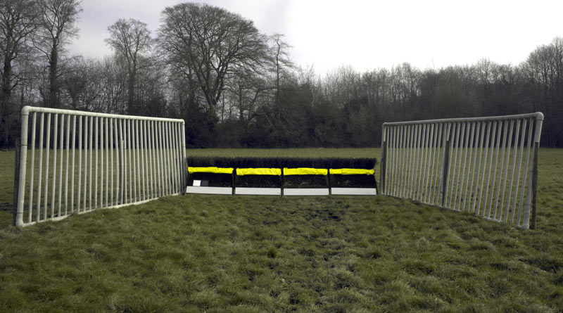 The proposed new obstacle colours that will be trialed at training grounds, following research by the University of Exeter that shows horses see better and may jump differently over white and yellow obstacles compared to the orange currently used.