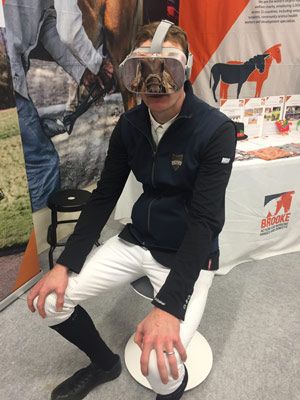 Showjumper William Whitaker was among the many to watch Brooke's VR 360° film of a Pakistan brick kiln.