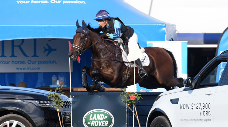 Eventer of the Year Amanda Pottinger and Just Kidding.