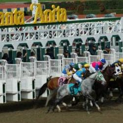 Racing at Santa Anita. © The Stronach Group