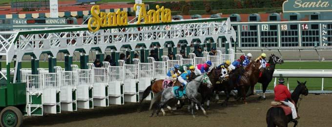 Racing at Santa Anita.