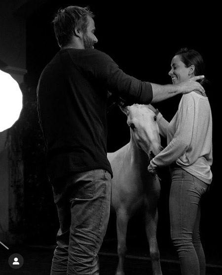 Coconut takes a bow inwards an icon past times Ramon Casares Into the light: Rescued pony star of photograph shoot