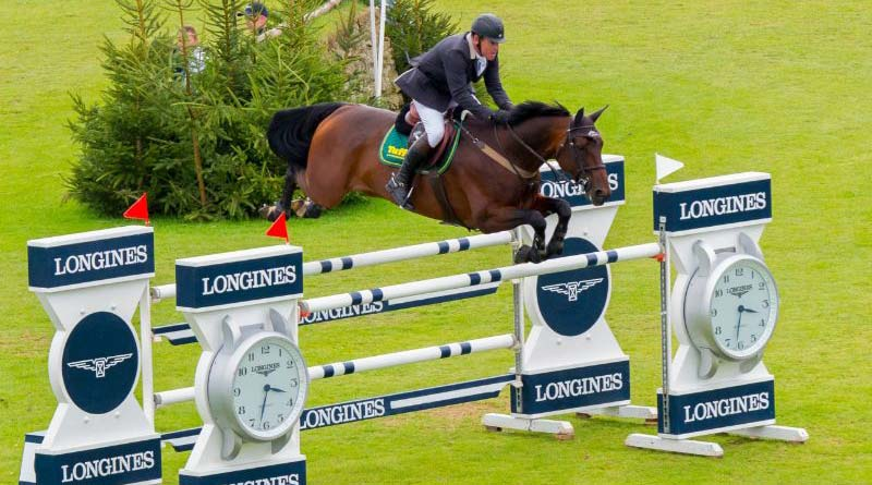 Tim Stockdale competing in the Longines BHS King George V Gold Cup in 2016.