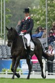 Badminton dressage leader Oliver Townend celebrates on Cillnabradden Evo later posting a s Badminton Horse Trials inwards pictures: Ollie holds overstep 2 later dressage