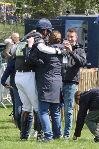 Hugs for William Fox-Pitt.