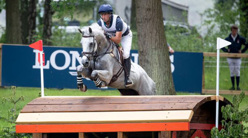 Tim Price and Ascona M on the cross-country at the Luhmühlen Horse Trials.