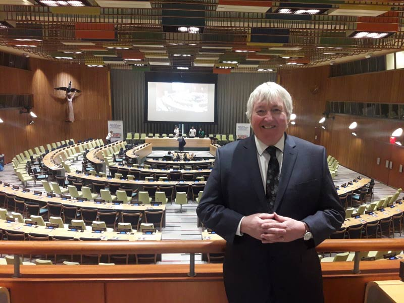 The Donkey Sanctuary's Director of Advocacy Ian Cawsey at the UN's High-Level Political Forum in New York this week.