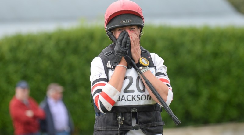Lucy Jackson was thrilled to stand on top of the podium at Millstreet in Ireland.