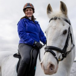 Tinto and Fiona Bell take regular trips to Scotland's beaches. Tinto has been named World Horse Welfare Rehomed Horse of the Year 2018.